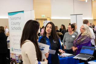 Employer tabling at Sonoma State University